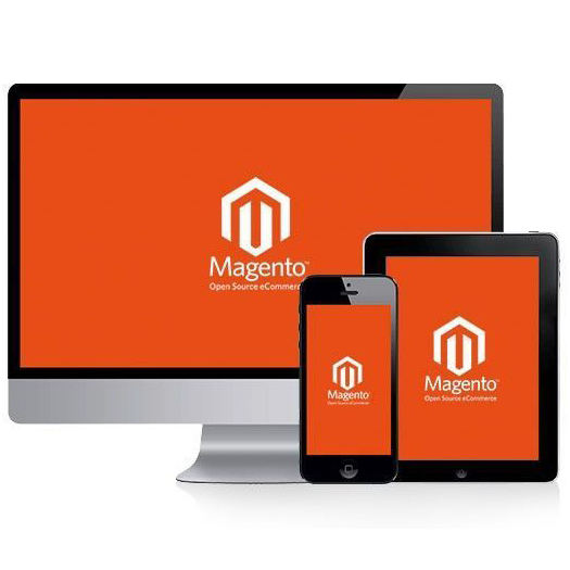 Magento web e-commerce halaman