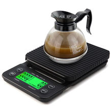 3kg 0.1g LCD Electronic Coffee Digital Scale with Timer Kitchen Food Scale with Tare Function