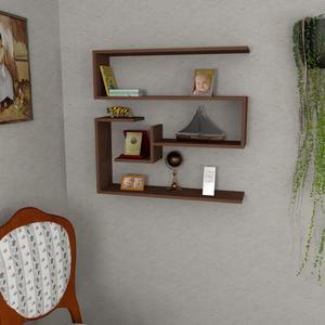 Confier Mini Wood Folding Wall Shelf