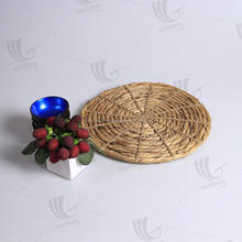 Unique design durable water hyacinth straw plate holder/ wedding charger placemat