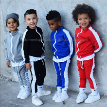 High Quality Children Sweatsuit For Gym / Casual Fleece Boys Sweatsuit / Baby Jogging Set Hoodie And Trouser