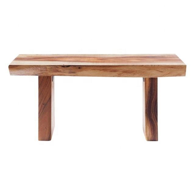 New Modern Live Edge Acacia Wood Patio Bench High Density Walnut Solid Wooden Live Edge Slab Table/Bench Top