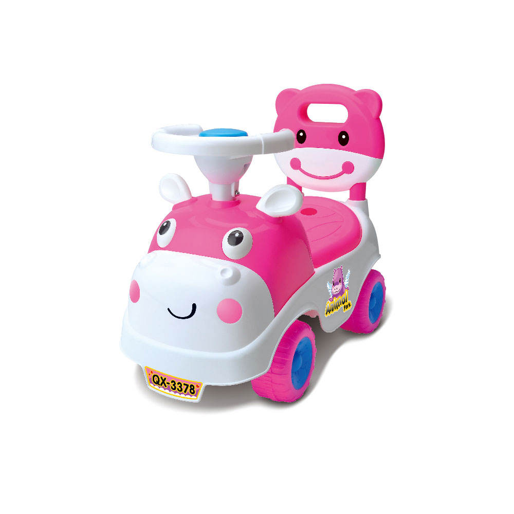 Kids Ride On Push Car, 3 in 1 Sliding Car Pushing Cart, Toddlers Ride On Toy w/ Working Horn & Music