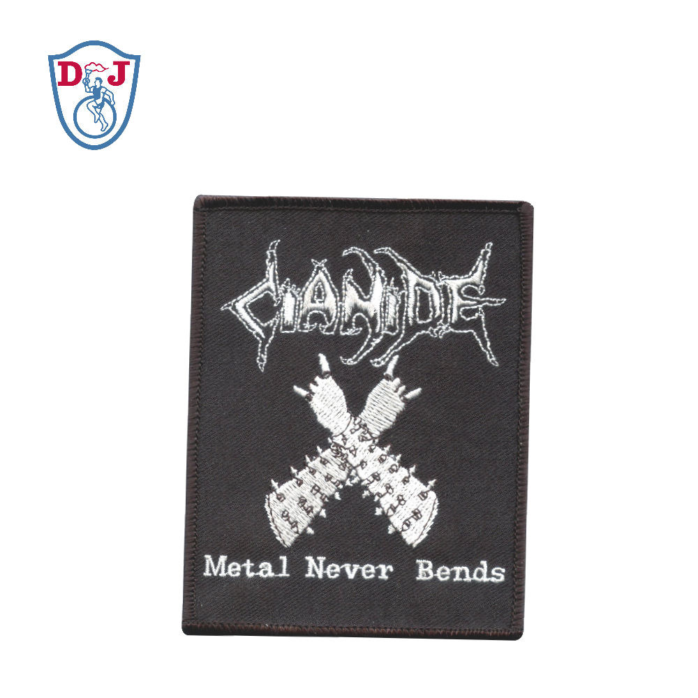 Custom Design Embroidered Patches Rock Never Dies