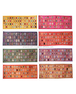 Wholesale Handmade Sequin Sari Patchwork Table Runner