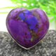 Heart designer purple copper turquoise gemstone 925 sterling silver ring wholesale online handmade jewelry