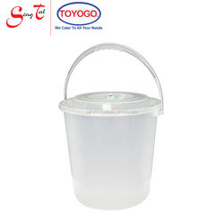 15 Litres Easy to Clean and Wash Handy Pail with cover and strong handles (4004WC)