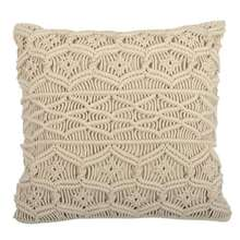 Modern Macrame Fringe Pillow Cover for Boho Home & Wedding Decor, Decorative Pillow Cover