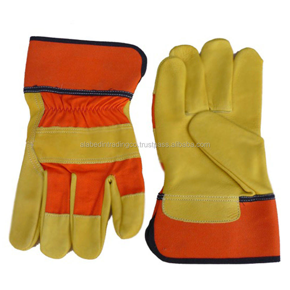 Superior Comfort AB Grade Cow Split Leather Working Gloves ,