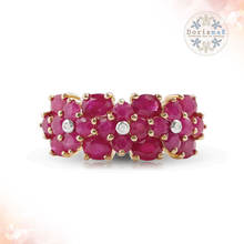 gold jewelry gemstone rings for wholesale, burma ruby 2.90 cts. and diamond designer rings for women