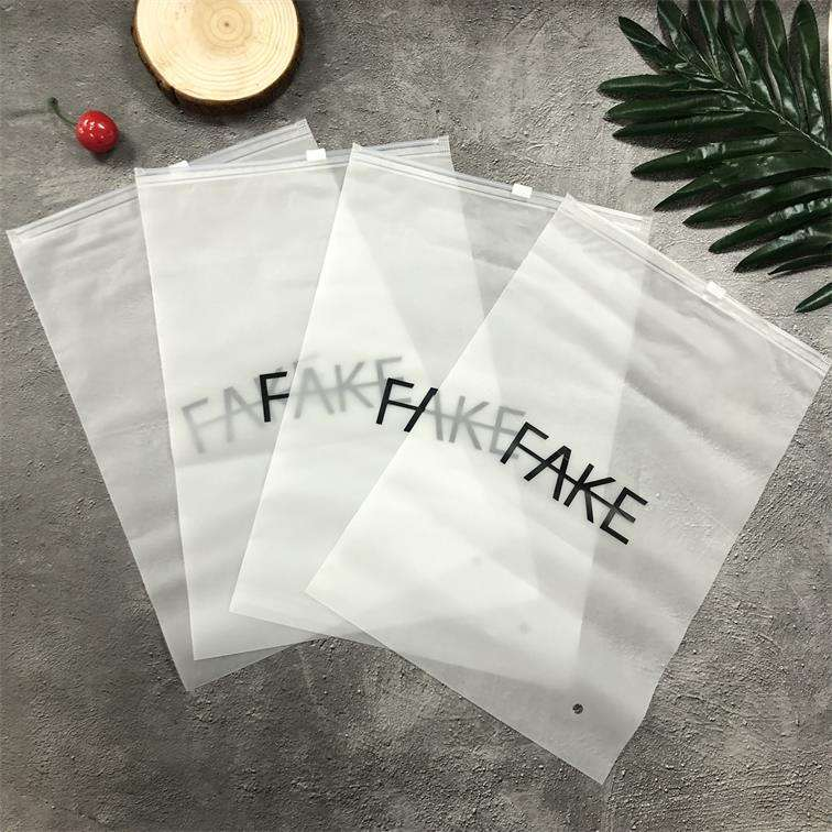 Custom your own logo plastic pvc packing clothing bags