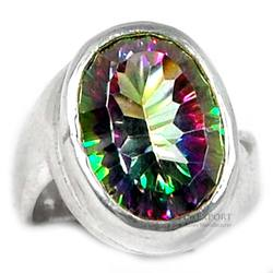 Mystic Topaz Rings in sterling silver 925 Wholesale