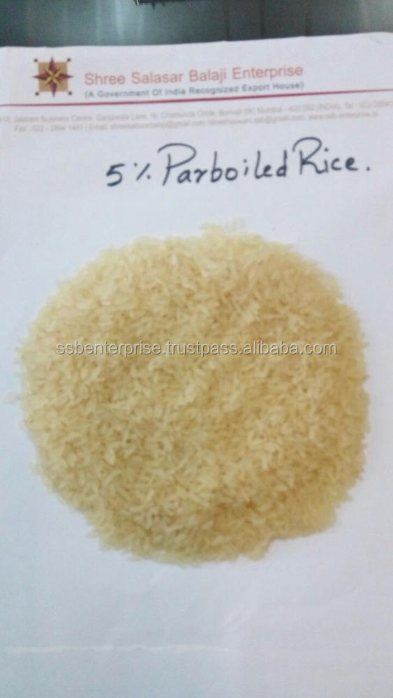 INDIAN LONG GRAIN PARBOILED 5% BROKEN RICE IN A PREMIUM QUALITY READY TO EXPORT..