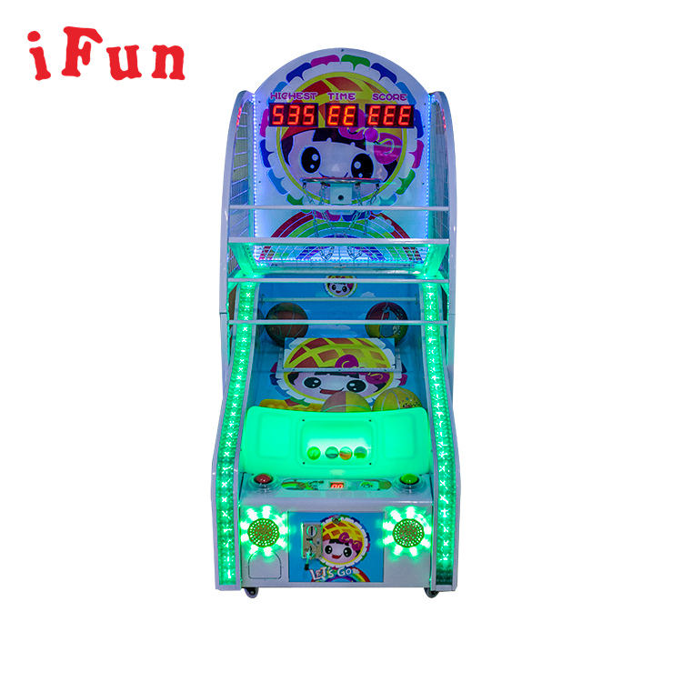 Arcade Shooting Hoops Basketbal Machines + Basketbal Verlossing Game Machine Kinderen