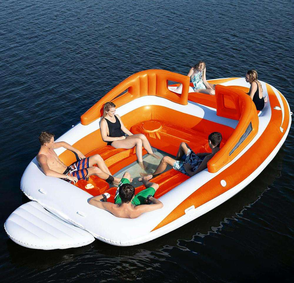 Capacity 6 Person Inflatable Raft Pool Ocean Floating Island Inflatable boat