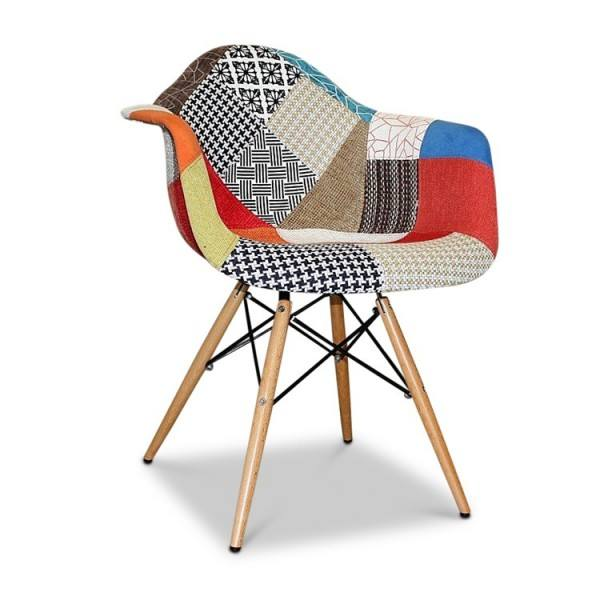 leisure fabric antique patchwork chair