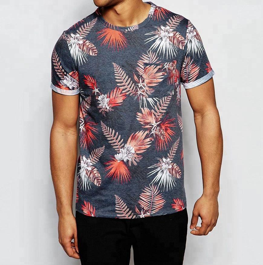 mens short sleeve AOP print chest pocket t shirt bangladesh