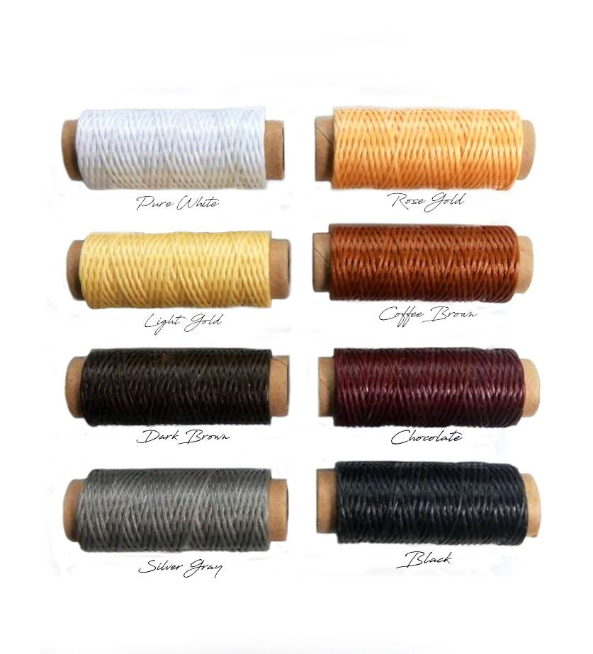 25yards LEATHER THREAD Waxed Polyester Thread Leatherworking, Bookbinding thread