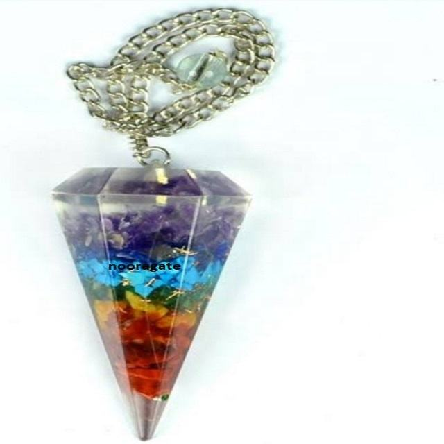 7 Chakra Stone Orgone Pendulums : Buy Online From Noor Agate From India Genuine Metaphysical Wholesale