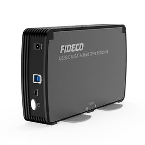 Commercio all'ingrosso 3.5 usb 3.0 external sata hdd enclosure caso con interruttore del ventilatore