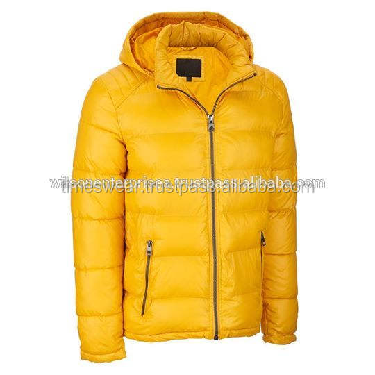 Men's Bubble Quilted Shell Lightweight Windproof Puffer Jacket Down Jacket Outwear Coat With Customized Logo