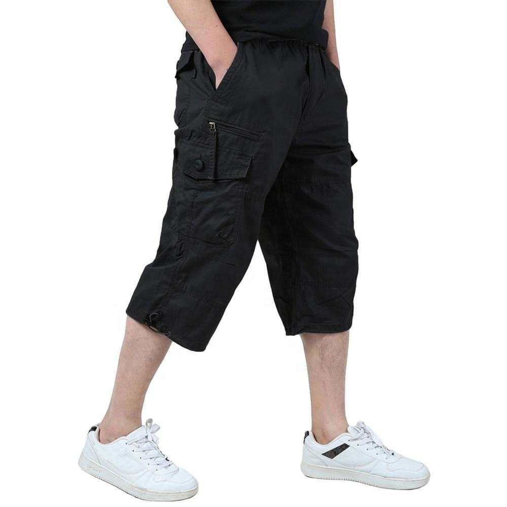 Men 100% cotton short Multi Pocket Military Short Men Cargo shorts