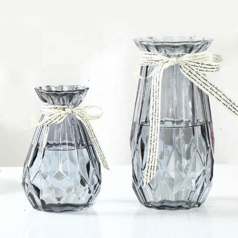 China Factory Tall Arrangements Glass Flower Vase vases for home decor Plant vessel