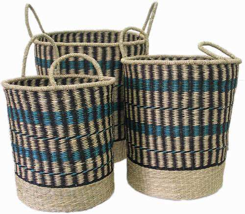 Hot deals seagrass belly basket low price handmade craft woven seagrass storage basket cheapest wholesale