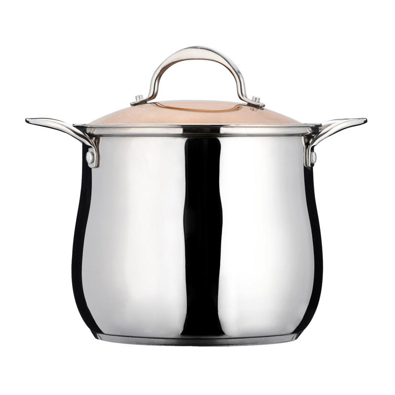 18cm commercial cooking pots stainless steel stock pots soup pot with glass lid