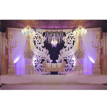 Latest Design Wedding Stage Paisleys Wedding Stage Backdrop Frame Panels For Stages