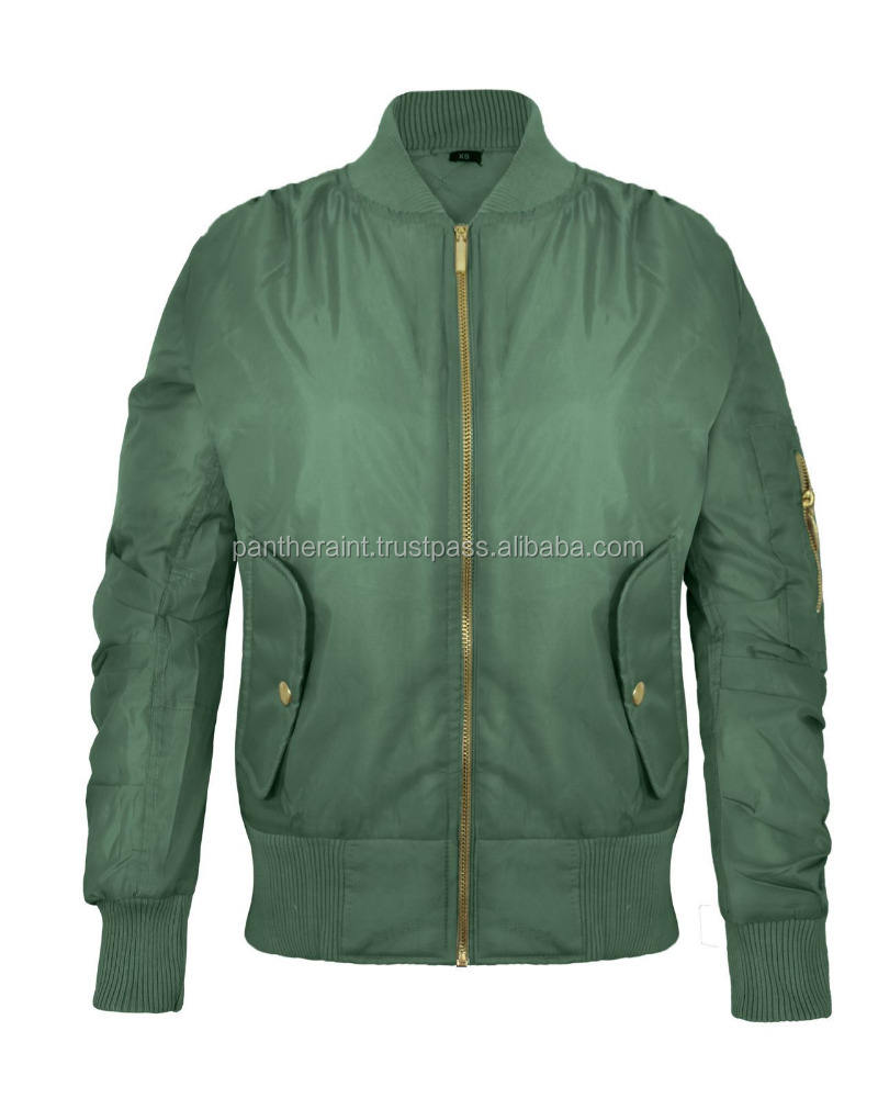 army green satin jacket
