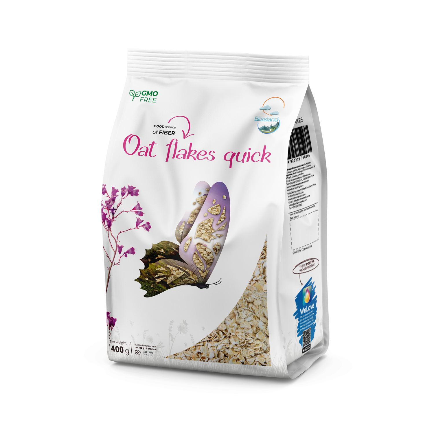 Oat flakes Quick breakfast cereal
