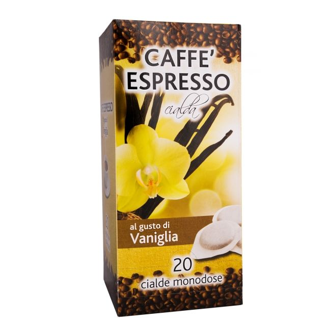 ITALIAN FLAVOR COFFEE PODS- 20 PODS BOX VANILLA - GROUND COFFEE PODS