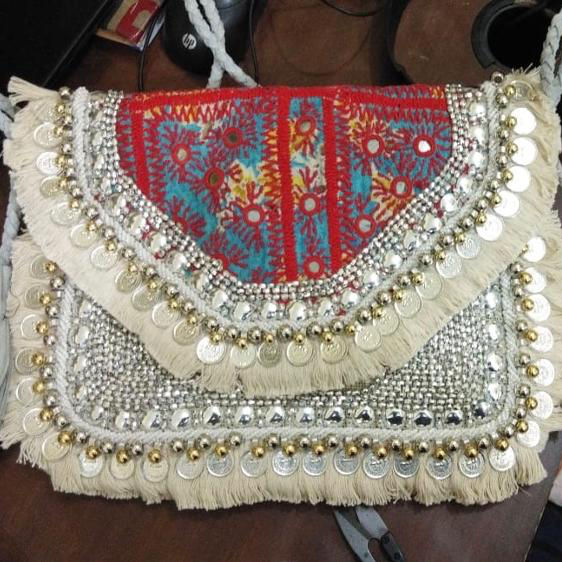 Bohemian style Embroidered Banjara Clutch