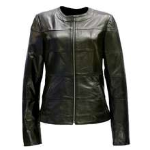 Turkey Custom Black Women's Genuine Leather Jackets For Ladies
