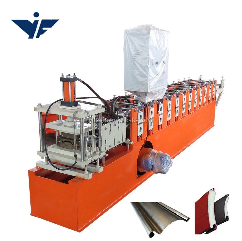 Steel door frame rolling shutter slat machine price side bottom guide rail machine in india
