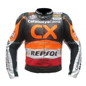 Honda Repsol CX Moto Moto Racing Veste _ (Pleine Veste En Cuir De Moto de Sécurité)