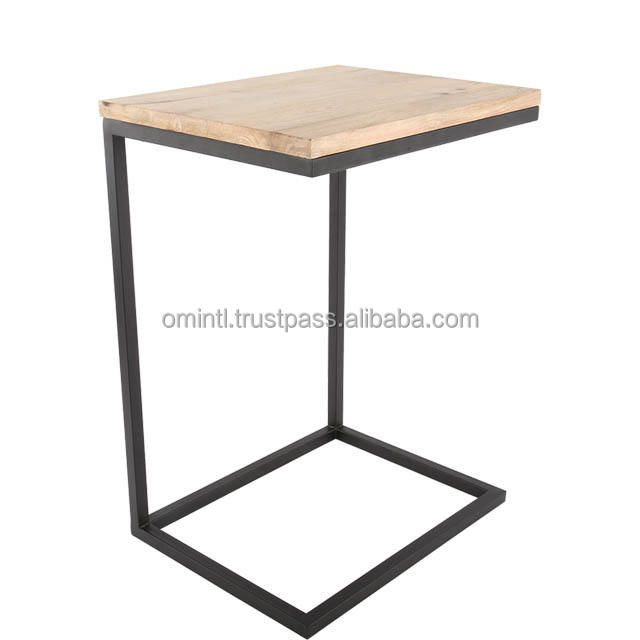 Best Quality Square iron and wood side table stool