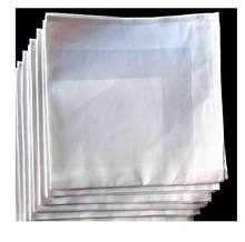 Cotton Linen Satin Band / Plain White Napkins Table Cloth