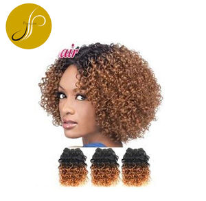 Pearlcoin Cheap 100% Human Hair Solid Color/Ombre Jerry Curl Weaving Extensions Wholesale