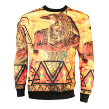 Crew neck Japanese anime sublimated sweater, high quality sweatshirt
