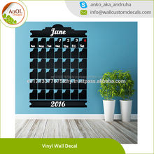 Monthly Blackboard Vinyl Wall Decal Calendar Chalkboard