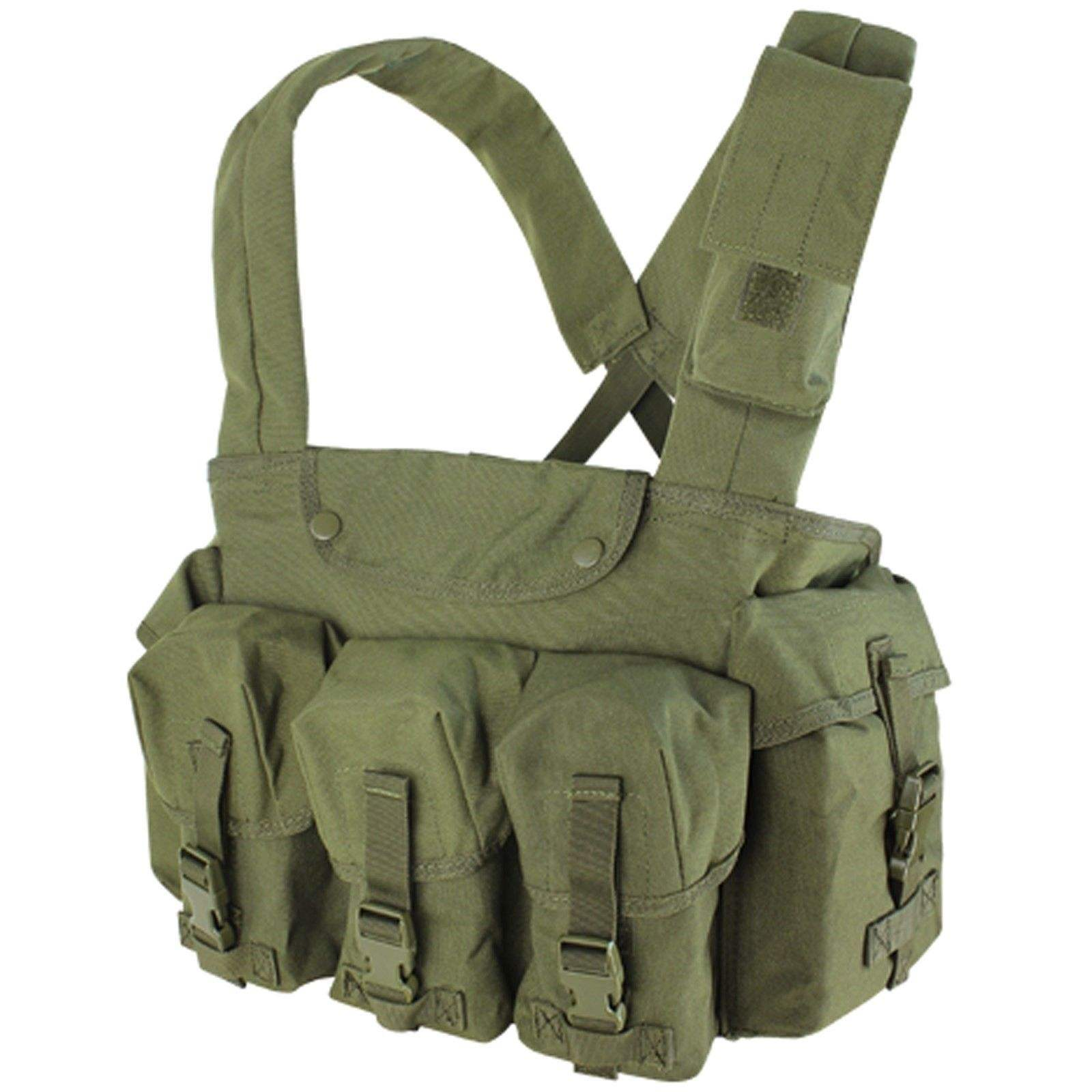NcStar CVAKCR2921 WOODLAND Tactical Chest Rig w/3 Double Magazine Pouches