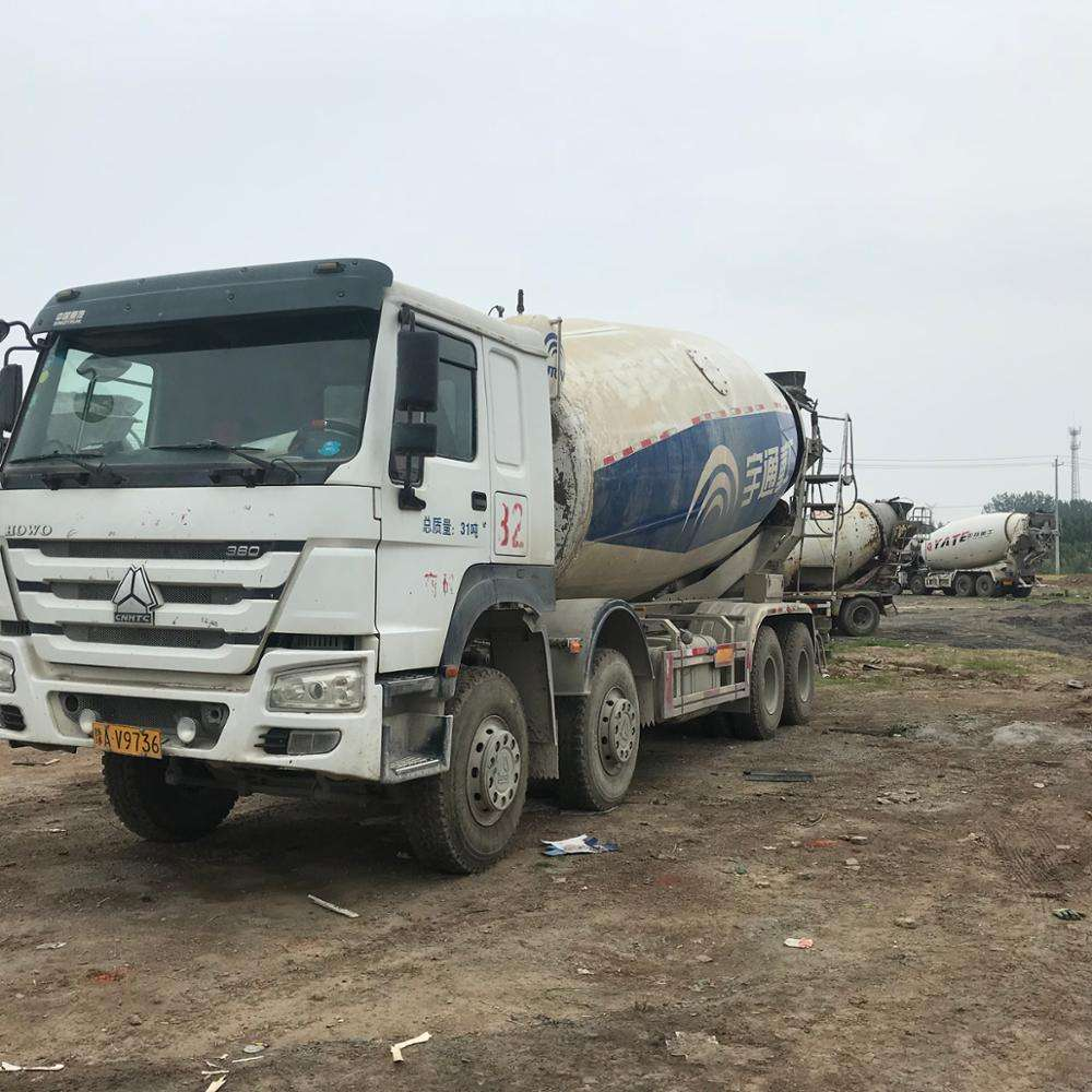Used Chinese Heavy HOWO 8*4 12cbm Concrete /used howo mixer truck for sale