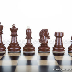Dubrovnik Zagreb chess pieces - chessmen - weighted, felted, standard size, tournament set