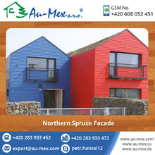 Industrial Wood Cladding Northern Spruce Facade