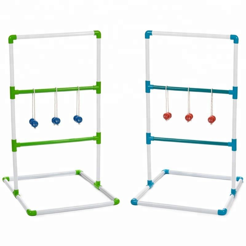 Ladder Toss Game Set Golf Achtertuin Familie Games met 6 Bolos Sport Ladderball
