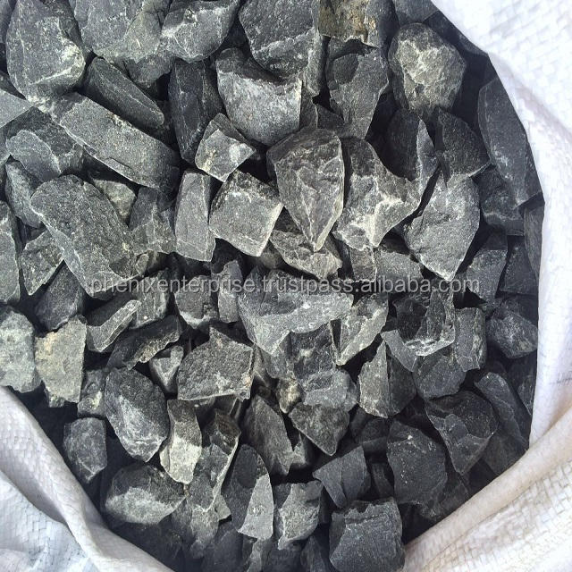 Aggregate gravel black color for construction in railway,bridges, dams etc