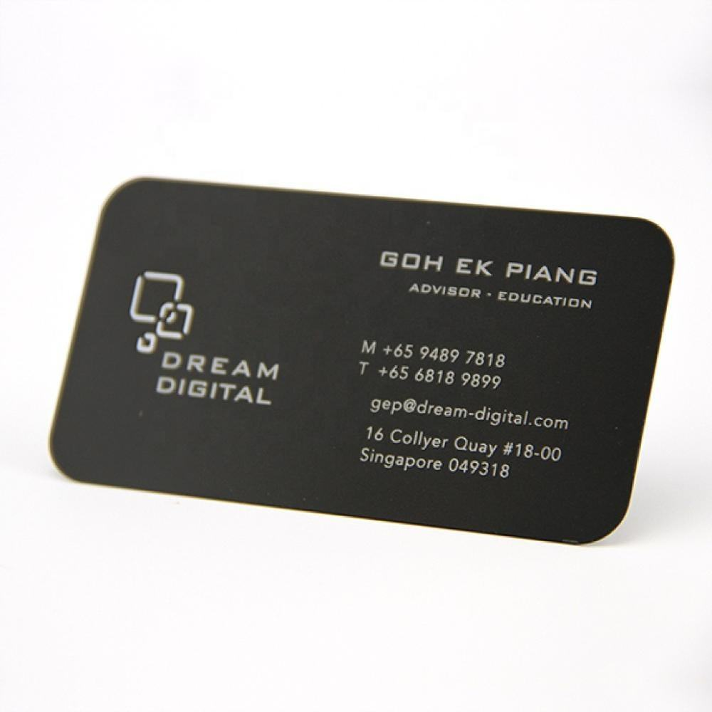 Free logo design metal business cards