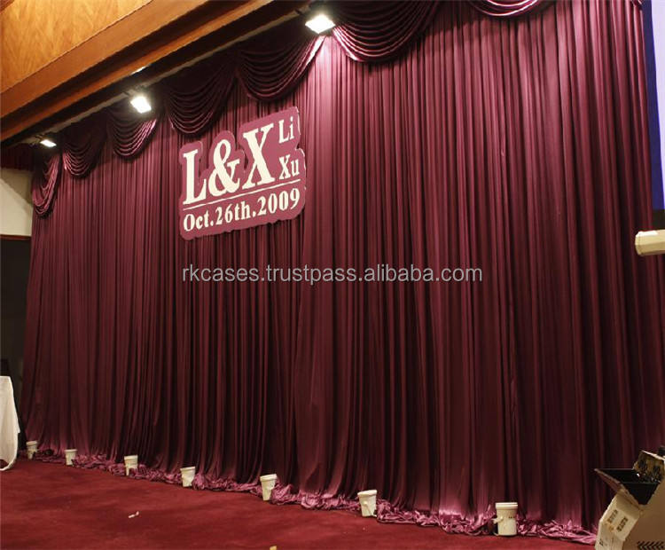 velvet curtain backdrop stand pipe and drape for theater backdrop decoration
